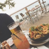 White Sangria, Beaus, Lobster nachos