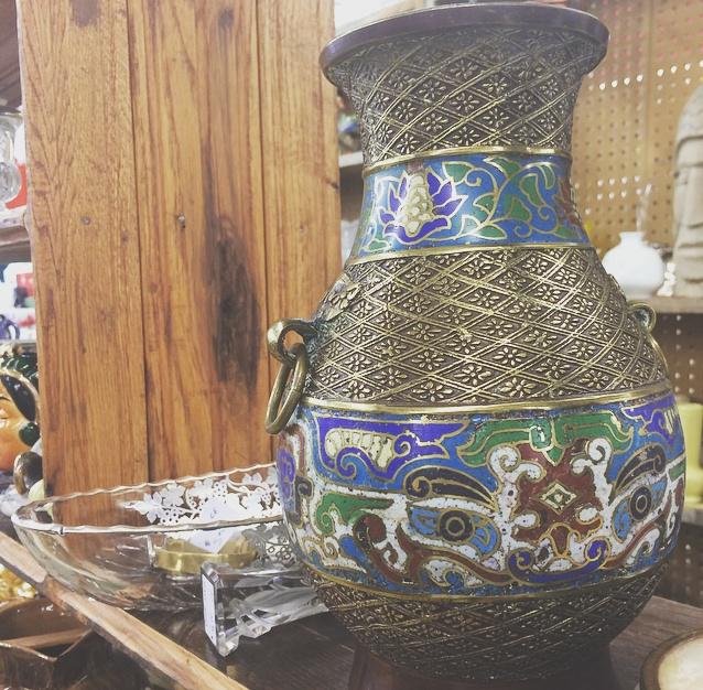 Japanese Cloisonne Vase $27