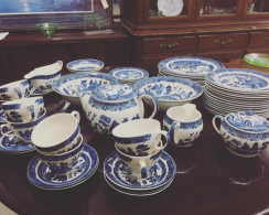 Tea set and dessert plates