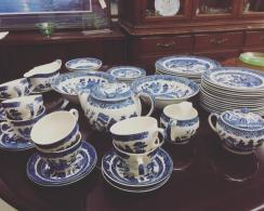Tea set and dessert plates