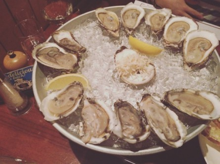 The oysters – so fresh and ice cold. Yum!